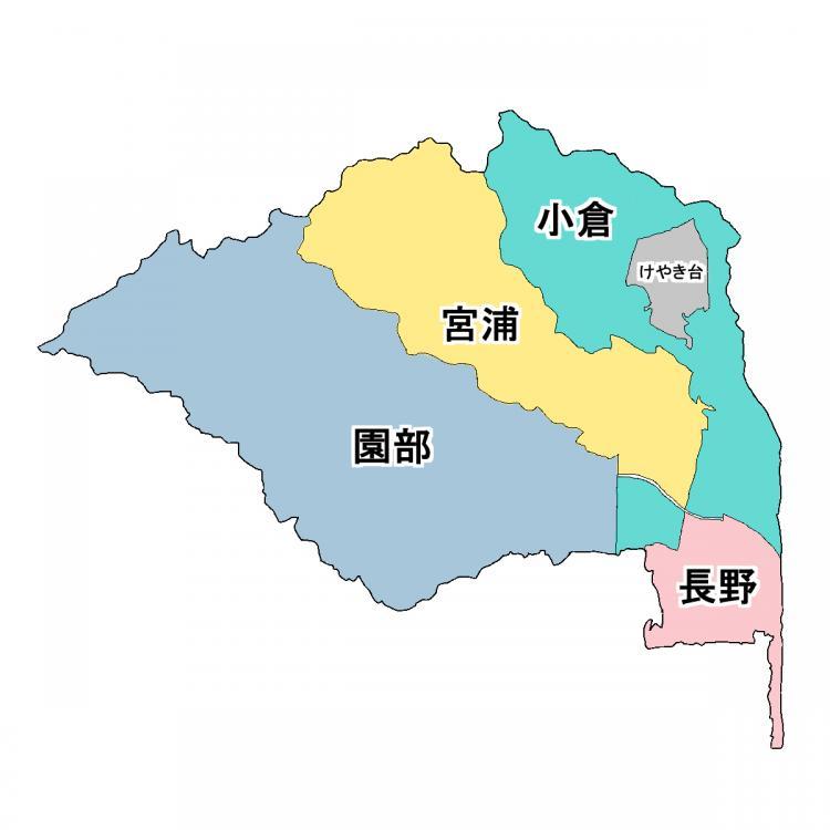 基山町の5つのエリア