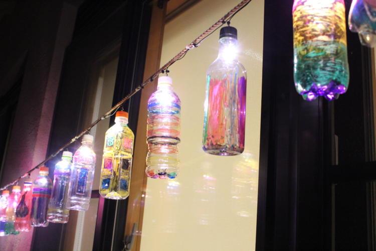 ペットボトルのライト