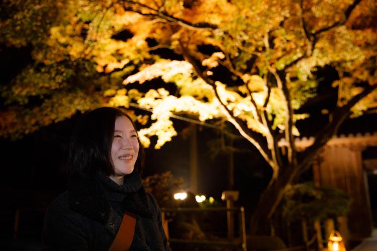 大興善寺の紅葉ライトアップと照明デザイナー