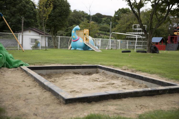 たんぽぽ保育園の砂場
