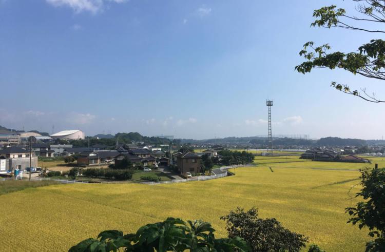 佐賀県基山町の秋の風景