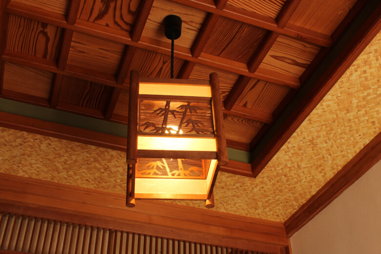 Japanese-style house, 格天井(Gotenjo),ceiling, tips hostel, saga, kiyama